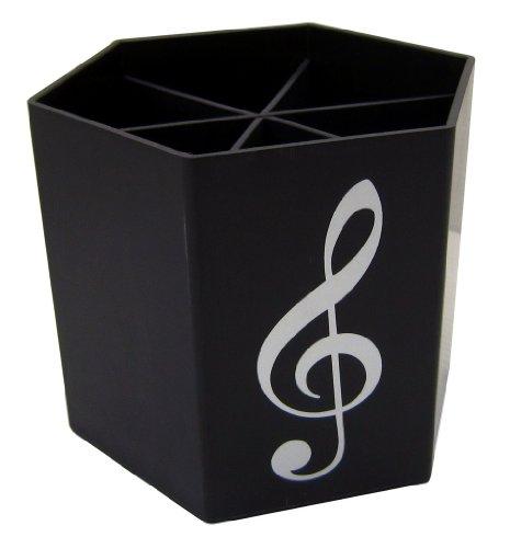 Musica a tema Nero Chiave di violino Hexagon portapenne