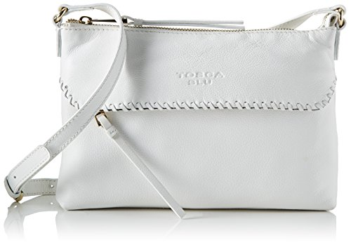 Tosca Blu Damen Kim Tornistertasche, Weiß (White), 4x16.5x27 cm