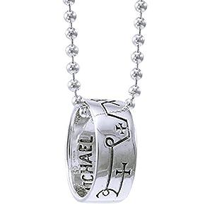 Alterras – Anhänger mit Kette: Erzengel Michael mit Kette aus 925-Silber