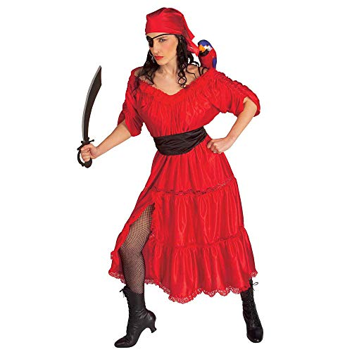 Widmann 44033 - Erwachsenenkostüm Karibik Piratenfrau - Für Erwachsene Freibeuter Der Meere Kostüm