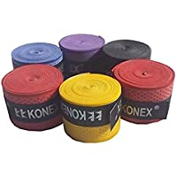 KONEX Multipurpose Super Tacky Touch Grip Polyurethane Badminton Tennis Squash Racket (Random Colour) - Pack of 5