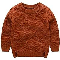 ARA Jersey de Cuello Redondo Bebé Niños Suéter Grueso de Punto para Otoño 0.5-4 años