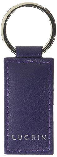 Lucrin Porte Clés Rectangulaire Simple Cuir Vachette Lisse 8 cm Pourpre (Violet) PM1085_VCLS_VLT
