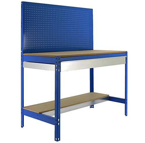 Banco trabajo BT2 cajón Simonwork Azul/Madera Simonrack