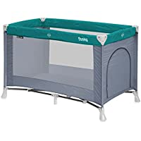 Baby NSAuk Deluxe Pop Up Travel Cot Large Pistachio 0-4 Years Cots & Cribs Portable Child Crib