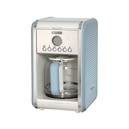 41548plDlAL. SS500  - Ariete 1342/05 Retro Style Filter Coffee Machine, 24 Hour Programmable Timer With Pause and Serve Button and Washable Filter, Blue