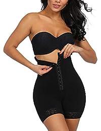 FeelinGirl Mujer Braguita Modeladora Faja Reductora Adelgazantes Shapewear Bodysuit de Cintura con Pierna Largo Dobladillo de Encaje