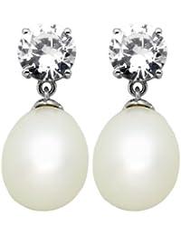Burgmeister Jewelry Damen-Ohrstecker weiß Zirkonia rhodiniert 925 Sterling Silber JHE1089-223