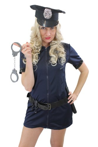 DRESS ME UP Komplettset: Kostüm Damenkostüm Sexy Politesse Polizistin Female Cop Beatcop Gr. 36, S