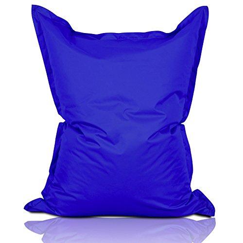 Lumaland poltrona sacco pouf puff xxl 380l imbottitura innovativa 140 x 180 cm per interni ed esterni colore royal blu