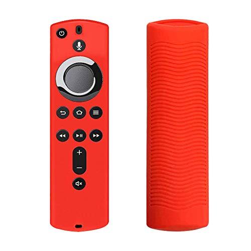only y Étuis de Télécommand en Silicone Amazon Fire TV, Coque de Protection Télécommande Housse Anti-Chute pour Amazon Fire TV Stick 4K Télécommande (Rouge)