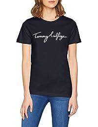 Tommy Hilfiger AILA C-NK Tee SS, Camiseta Para Mujer