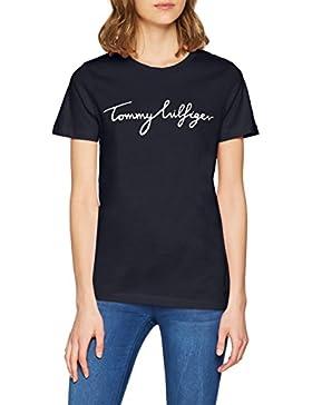 Tommy Hilfiger Aila C-NK Tee SS, T-Shirt Donna