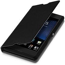 kwmobile Funda para Sony Xperia E3 - Flip cover para móvil - Cover plegable en negro