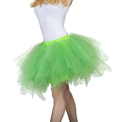 Dancina Damen Petticoat 50er Jahre Retro Tutu Tüllrock [Sticker XL] Grün Gr. ()