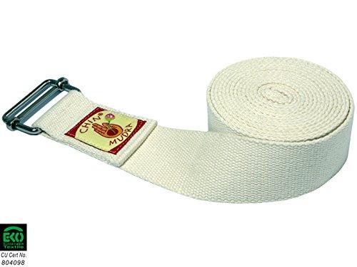 Sangle 100% Coton Bio Boucle Rectangulaire - Blanche