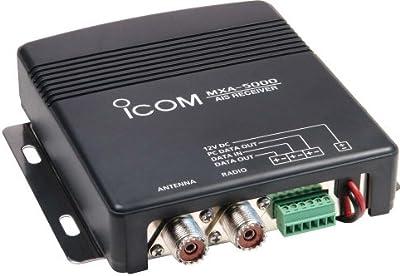 Icom - Receptor de AIS para barcos (2 canales), color negro