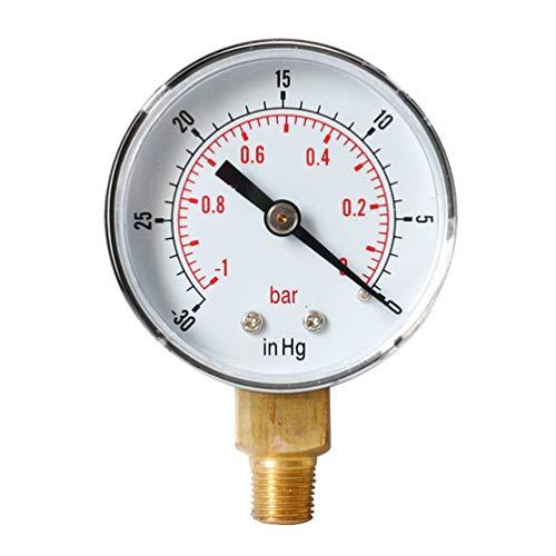 ULTECHNOVO -1-0 bar -30-0 inhg alta precisión npt compresor de aire manómetro de alta resistencia