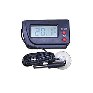 LCD Digital Thermometer + Remote Probe - Air or Water