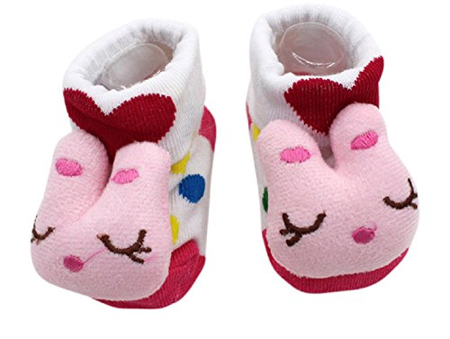 Inception Pro Infinite Anti-Rutsch-Socken - Kinder - Kleinkind - 0-12 Monate - Muster - Kaninchen - weiße Polka Dot - männlich - Femina - Unisex - - Polka Dot Kinder Socken