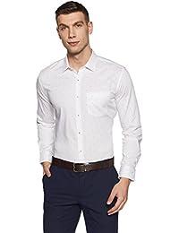 Amazon Brand - Symbol Men's Printed Regular Fit Full Sleeve Formal Shirt