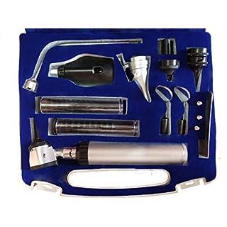 ADS Medi Care ENT Diagnostic Set Otoscope Opthalmoscope Set + 2 Free Bulbs