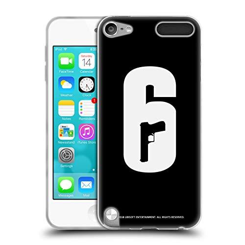 Head Case Designs Offizielle Tom Clancy's Rainbow Six Siege Schwarz Und Weiss Logo Soft Gel Huelle kompatibel mit Apple iPod Touch 5G 5th Gen Sieg Ipod