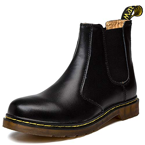 Orktree Unisex-Erwachsene Chelsea Boots Damen Stiefel Derby Wasserdicht Kurz Stiefeletten Schuhe Herren Worker Boots, 39 EU, Schwarz B