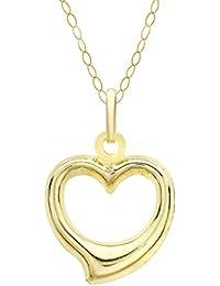 Carissima Gold Collar con colgante de mujer, con oro amarillo de 9K, sin gema, 46 cm