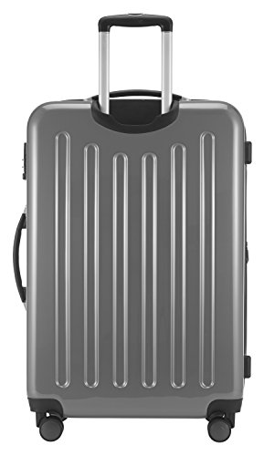 HAUPTSTADTKOFFER - Alex - NEU 4 Doppel-Rollen Großer Hartschalen-Koffer Koffer Trolley Rollkoffer Reisekoffer, TSA, 75 cm, 119 Liter, Silber - 4