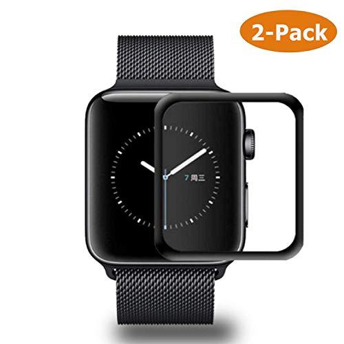 Hotbon [2 Pack] Pellicola Vetro Temperato per Apple Watch Series 5 44mm, Ultra Resistente 0.33mm HD Alta Trasparenza Temperato...
