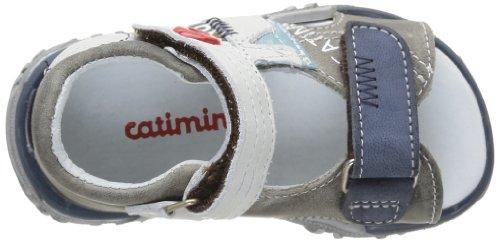 Catimini 14EA40, Sandales bébé garçon Gris (11 Vte Gris Marine Dpf/342)