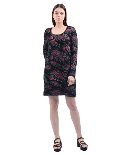 Pepe Jeans Womens Cotton A-line Dress (VEDDER LS_Black_Small)