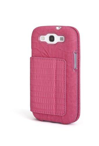 Kensington K39614WW Folio Wallet für Samsung Galaxy S III pink Snake Portafolio Duo