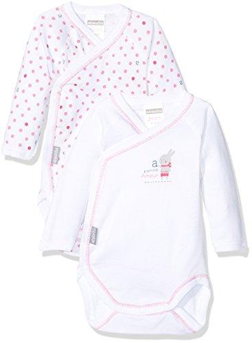 Absorba Underwear Cache-Coeur, Body Mixte Bébé, Blanc (Blanc),  (lot de 2) 3 Mois (Taille Fabricant : 3M)