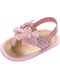 d2ed5977b45d8 HoSayLike Enfants GarçOns Filles Occasionnels Enfant en Bas âGe BéBé Filles  Perle Bling Fleur Princesse Chaussures