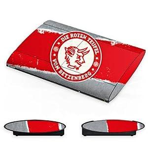 DeinDesign Skin kompatibel mit Sony Playstation 3 PS3 Superslim CECH-4000 Aufkleber Folie Sticker 1. FC Kaiserslautern Fanartikel FCK