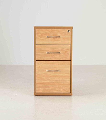 Desk High Pedestals - Length: 600 MM; Width: 410 MM; Height: 725 MM; Color: Beech