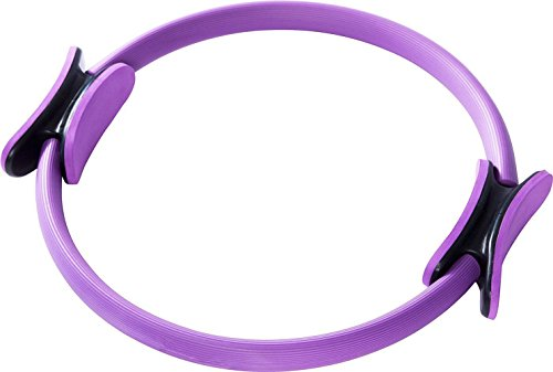cooleedtek 38,1cm Doppel-Griff Pilates Yoga Ring–Fitness Circle zu brennen Fett, mittlere Größe, violett