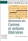 Dictionnaire des genres et notions littéraires