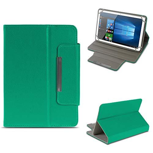 NAUC Odys Cosmo Win X9 Tablet Schutzhülle Tasche aus Kunst-Leder Hülle Standfunktion Cover Universal Case Magnetverschluss, Farben:Grün