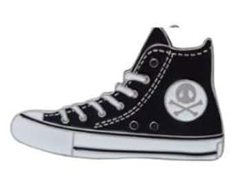 Boucle de ceinture Chuck Buckle Rockabilly Noir Blanc Crâne / Boucle chaussures Femmes Hommes / échange Boucle »Chaussures de marche 'par MyAccessoires