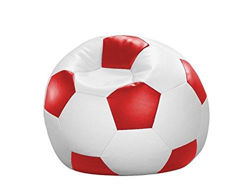 Cats Collection Fußball-Sitzball Kunstleder weiß/rot Ø 90 cm