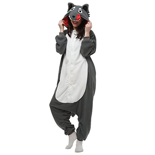 VU Roul Anime Kigurumi Erwachsene Kostüme Pyjama, Einteiler S Gr. Large, Naughty Wolf