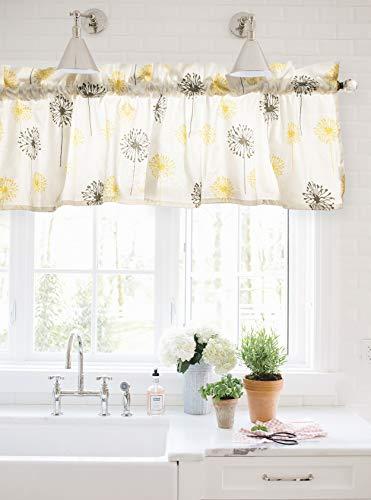 Crabtree Collection Gris amarillo diente león cortina
