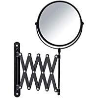 Wenko Miroir cosmétique mural à bras télescopique Miroir mural télescopique avec grossissement de 3 fois surface de…