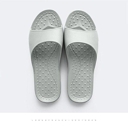 DogHaccd pantofole,Le coppie anti-slittamento home pantofole uomini e arredamento bagno con doccia a raffreddare in plastica pantofole femmina estivo Grigio3