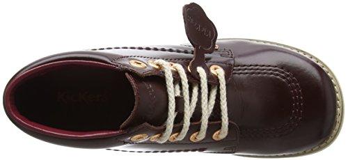 Kickers Damen Kick Hi C Lthr Af Dk Stiefel Rot (Dark Burgundy)