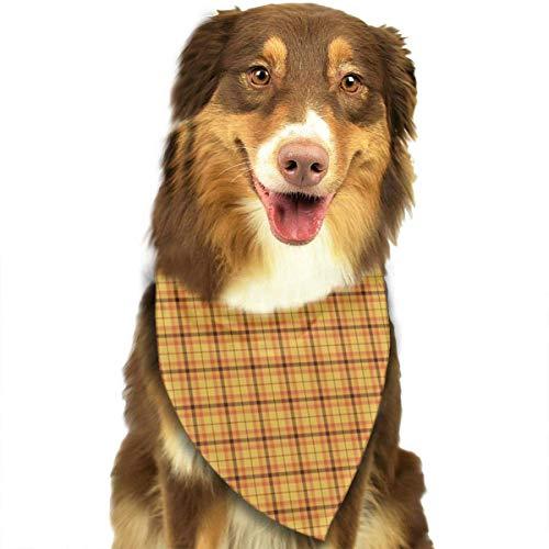 (Hectwya Weihnachten-Lights-Plaid Fashion Pet Bandanas Hund Auto Hals Schal für Unisex Pet Boy Girls)