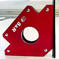 S&R Escuadra Magnética Soldadura I Imán para soldador 45 ° I 90 ° I 135° Hasta 23 kg - 100 mm